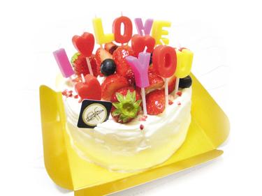 西洋菓子カトルフィユ【キャンドルデコレーション】