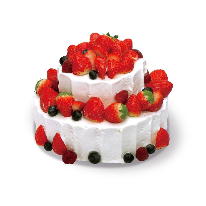 綾南自然菓子 Showado【フレッシュベリーの2段ケーキ】